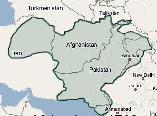 Afghanistan Map 1732